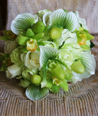 Brides Bouquet lady slippers
