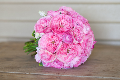 stunning garden roses in pink for a wedding