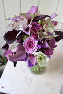 Maui wedding flowers purple