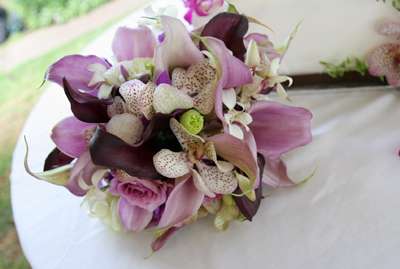 details wedding bouquet lavender