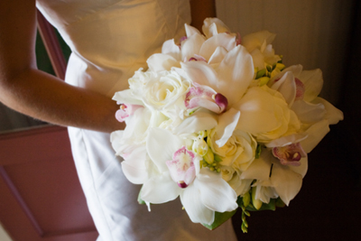 luxurious white orchid bouquet maui