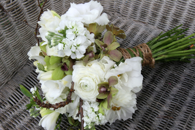 white spring flowers bouquet