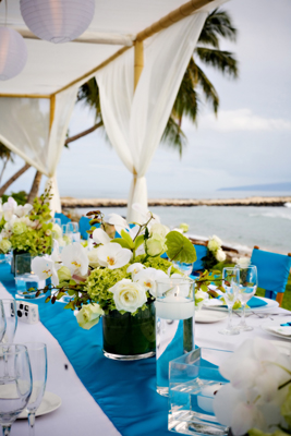 ocean wedding table