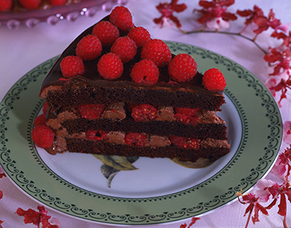 chocolate raspberry truffle cake