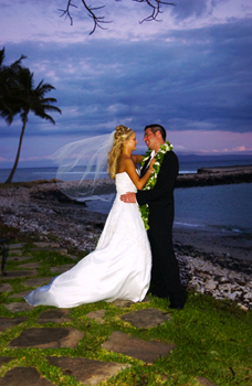 Maui bride and bridegroom