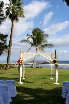 Maui wedding canopy