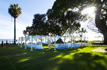 OLowalu wedding with canopies