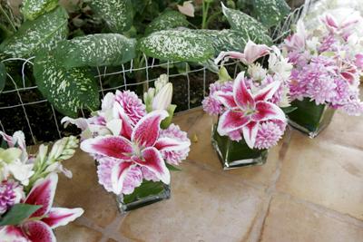 Pink Wedding Flowers Blue Sky Weddings Maui