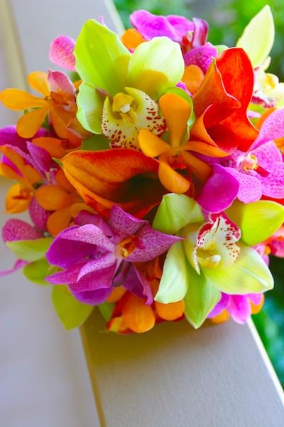 Bright Tropical Wedding Flowers Maui Flowers Maui