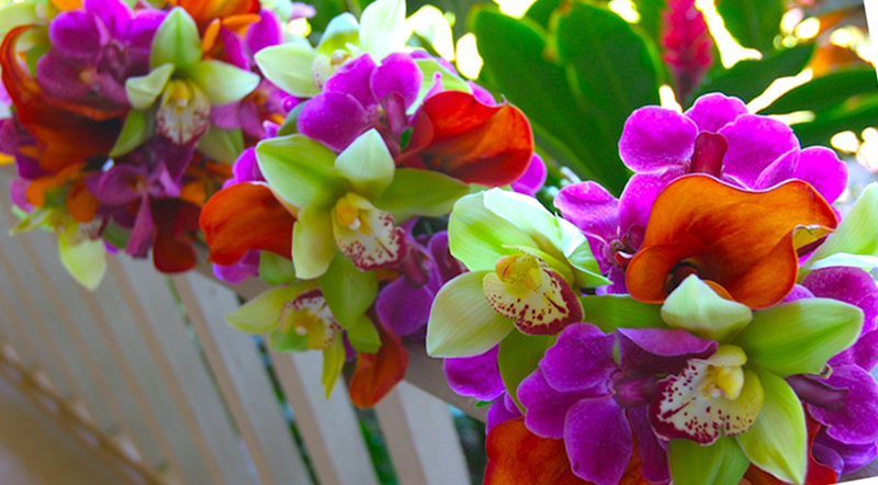 Bright Tropical Wedding Flowers - Maui Flowers - Maui Brides ...